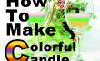 Comment faire une bougie-coloré!!