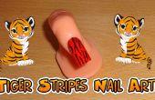 Rayures de tigre nail art