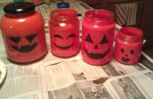 Dernière Minute Halloween lanterne bouteille en verre