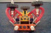Knex dune buggy avec la direction et la suspension arrière.