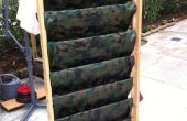 Vertical garden, vegetal wall / fense from recycled wood