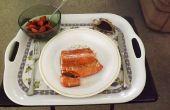 Alaska sauvage saumon poêlé