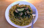 Spaghetti Pesto de Curry vert thaï - Vegan & sans Gluten