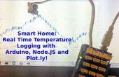 Diagraphies de température en temps réel avec Arduino, NodeJS et Plotly !