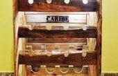 Rustic Wine rack à palettes pour 16 bouteilles