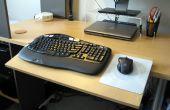 Plate-forme réglable de clavier, Extension de bureau