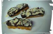 Chocolat-plongé Biscotti aux amandes Orange