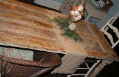 Corbeille à Treasure : une vieille porte en bois prélevée sur la poubelle devient une Table de salle à manger