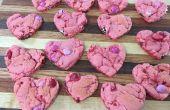 Cookies aux fraises coeur