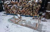 Traîneau de bois de chauffage