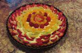 Fruits frais tarte aux amandes croûte Graham