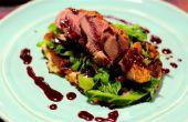 Canard avec une sauce au vin rouge et de groseille | Cuisiner avec Benji