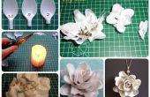 Fleur de cuillère en plastique (DIY)