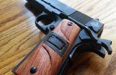 Les poignées pistolet bois personnalisé