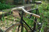 Poignées de guidon de vélo en bois.