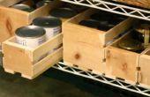 Boîtes de lamelle pour la nourriture en conserve sur une grille