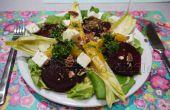 Végétarienne saisonnière salade avec vinaigrette de cerfeuil-orange douce