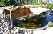 Ombre d'étang à partir de matériaux récupérés
