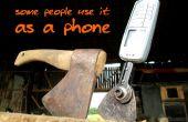 Instantanée de hache aka téléphone cellulaire hache
