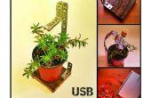 USB plante étagère, le compagnon de bureau idéal