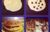 Sans gluten & Dairy-Free Blueberry-Banana Pancakes