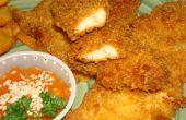Croustillant humide doigts de poulet panés frites et Sauce