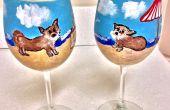 Clairement, Susan crée A Custom Design de part peint verres de vin