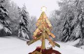 Tourner les vieux bois palettes dans un bel arbre de Noël