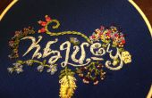 Ambigramme broderie