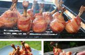 Érable glacé Bacon enveloppé de sucettes de poulet