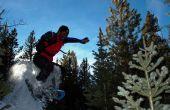 Freestyle en raquettes Boulder sauter
