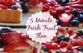 Flan aux fruits frais 5 minutes