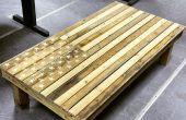 Drapeau américain, Table basse - palette meubles
