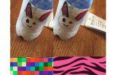 Bunny crayon titulaire de plastique bouteille