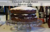 Nu au beurre d'arachide au chocolat Brownie Cake