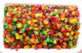 Tutti-Frutti : Cubes de fruits confits colorés de papaye crue