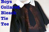 Garçons de Javel Tie Tee w / Faux col