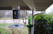 Mangeoire de bouteille de verre recyclé.