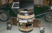 Convertir un baril de vin dans un meuble