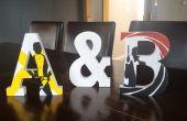 Sur mesure en bois lettres