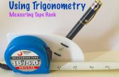 Mesurer la hauteur à l'aide de la trigonométrie (Hack de ruban à mesurer)