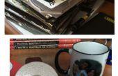 Miroirs de courtoisie et sous-verres tasse café de vieux disques durs