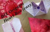 BRICOLAGE coeur Origami case - Message Secret (facile