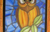 Faux vitrail Owl