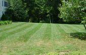 Comment faire des rayures dans votre herbe