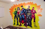 How to paint The Justice League Mural