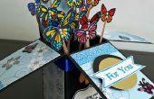 La carte dans une boîte - papillons
