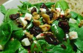 BlackBerry Ginger Vinaigrette sur une salade de fromage de chèvre épinards