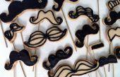 Moustache Cookie pop