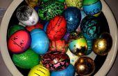 Souffler les oeufs de Pâques